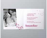 Faire-part de naissance photo Amandine