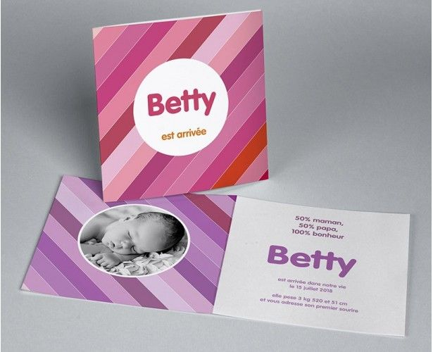 Faire-part de naissance photo Betty