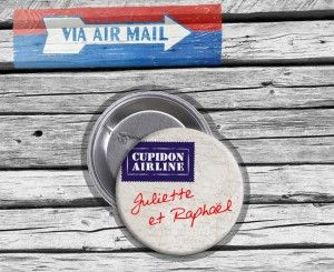 Badge mariage ByMail