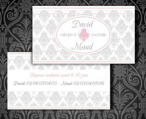 Carte d'invitation vntage Baroque