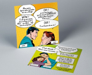 Faire-part de mariage BD Pop Art May-Be
