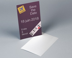 Save The Date mariage Voyage Vintage