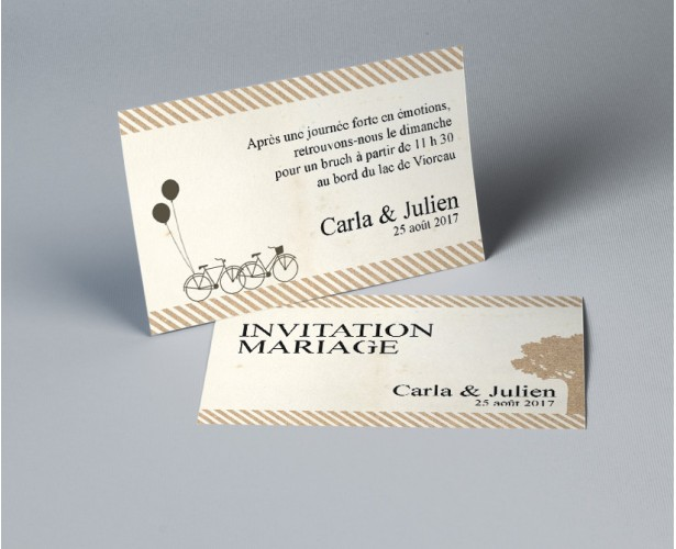 Carte dinvitation mariage champtre cdre carte dinvitation recto verso assortie votre faire part de mairage 1 stopboris