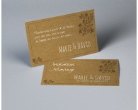 Carte d'invitation mariage kraft Paname 1