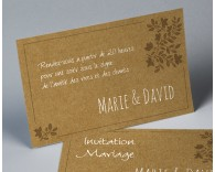 Carte d'invitation mariage kraft Paname 2