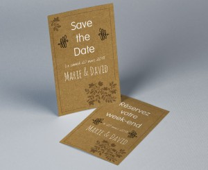 Save The Date mariage kraft Paname