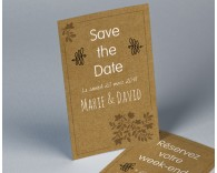 Save The Date mariage kraft Paname 2