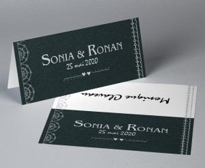 Marque place mariage Black Swann