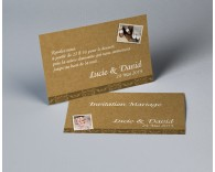 Carte d'invitation mariage vintage kraft 1