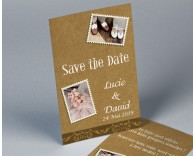 Save The Date mariage vintage kraft 2