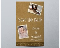 Save The Date mariage vintage kraft 3