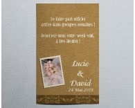 Save The Date mariage vintage kraft 4