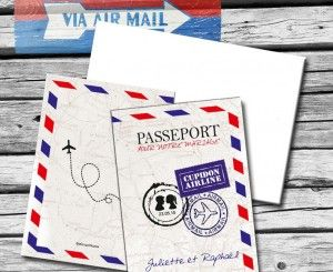 Faire-part mariage solidaire passeport ByMail