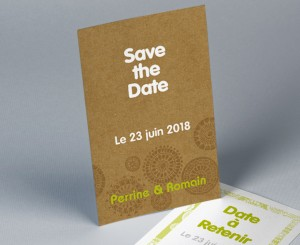 Save The Date mariage vintage pochette 2