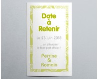 Save The Date mariage vintage pochette 4