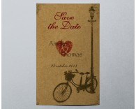 Save The Date mariage vintage Bécane 3