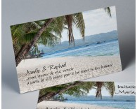 Carte d'invitation mariage photo paysage Atoll 2