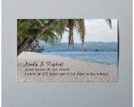 Carte d'invitation mariage photo paysage Atoll 3
