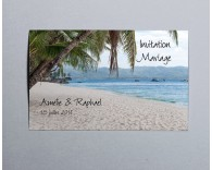 Carte d'invitation mariage photo paysage Atoll 4