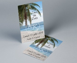 Save The Date mariage photo paysage Atoll