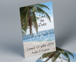 Save The Date mariage photo paysage Atoll 2