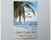 Save The Date mariage photo paysage Atoll 3
