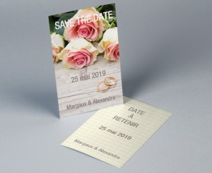 Save The Date mariage romantique 1