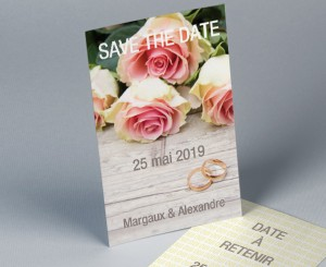 Save The Date mariage romantique 2