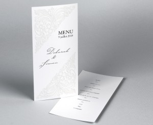 Menu mariage traditionnel blanc Luxury 1