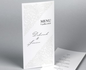 Menu mariage traditionnel blanc Luxury 2