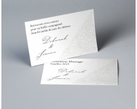 Carte d'invitation mariage traditionnel blanc Luxury 1