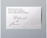 Carte d'invitation mariage traditionnel blanc Luxury 3