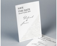 Save The Date mariage traditionnel blanc Luxury 2