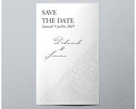 Save The Date mariage traditionnel blanc Luxury 3