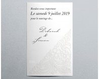 Save The Date mariage traditionnel blanc Luxury 4
