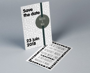 Save The Date mariage tendance pochette Electron 1
