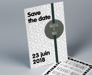 Save The Date mariage tendance pochette Electron 2