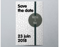 Save The Date mariage tendance pochette Electron 3