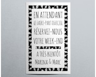 Save The Date mariage tendance pochette Electron 4