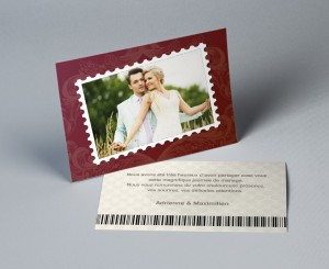 Cartes remerciement mariage passeport Nuptial