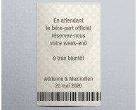 Save the date mariage passeport Nuptial