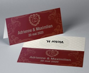 Marque place mariage passeport Nuptial