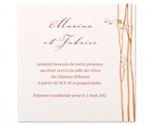 Carte mariage Woody