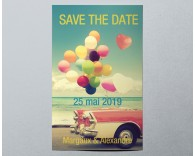 Save the date mariage romantique vintage Balloon