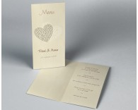Menu mariage diptyque traditionnel Guipure