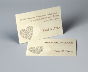 Carte invitation mariage traditionnel Guipure