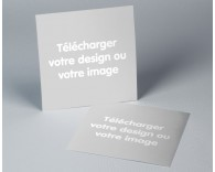 Faire part de mariage D.I.Y carré simple papier brillant