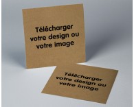 Faire part de mariage D.I.Y carré simple papier kraft