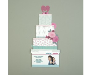 Faire-part de mariage Pop Up Wedding Cake