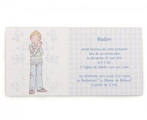 Invitation communion Bastien